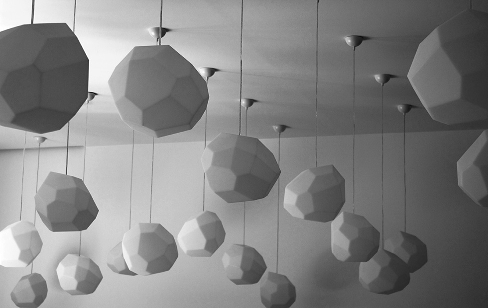 Asteroid Plastic in Maze Restaurant, Pendants light