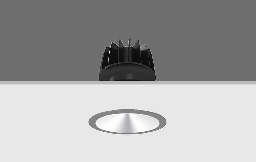 ArchPro Small Round Grey with Chrome, Pendant Lighting