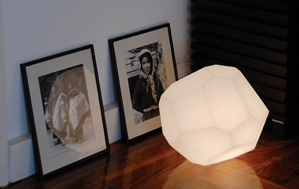 Asteroid Plastic White Table Lamp, Pendant Light, Innermost