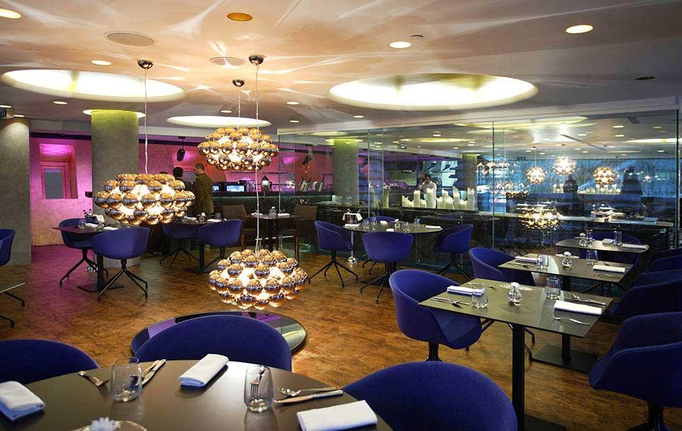 Gunmetal Beads in Hytra Restaurant, Pendant Lighting, Innermost