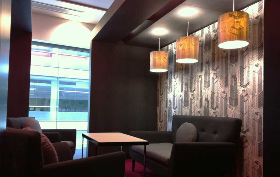 Bespoke Lampshades in BBC North, Pendant Light, Innermost