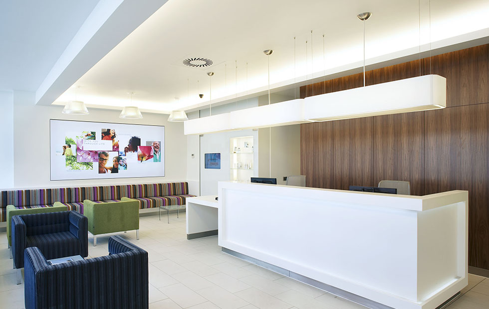 Bespoke Pendants Lampshades in Bupa Wellness, Medical Centre