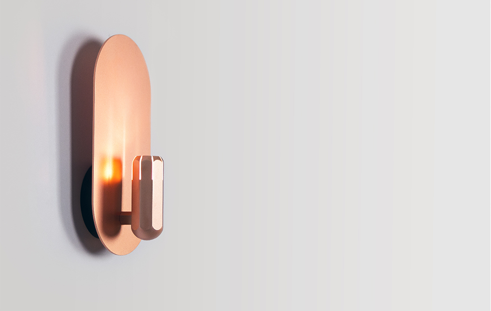 Slider Brixton Wall in anodised copper, Innermost