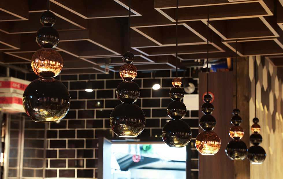 Slider Bubble and Boule Lights, Spot Pendant Lights, Innermost