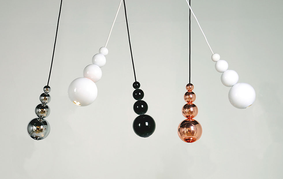 Slider Solid Colourways of Bubble, Spot Pendant Lights, Innermost