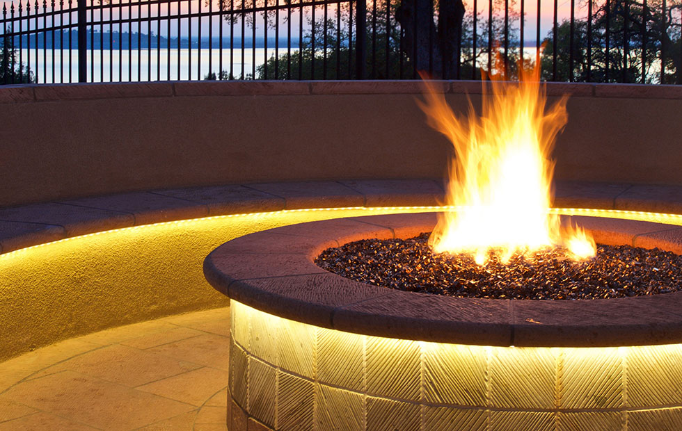 Slider Innermost Outdoor Lighting, Outdoor terrace detailing at Private Residence USA