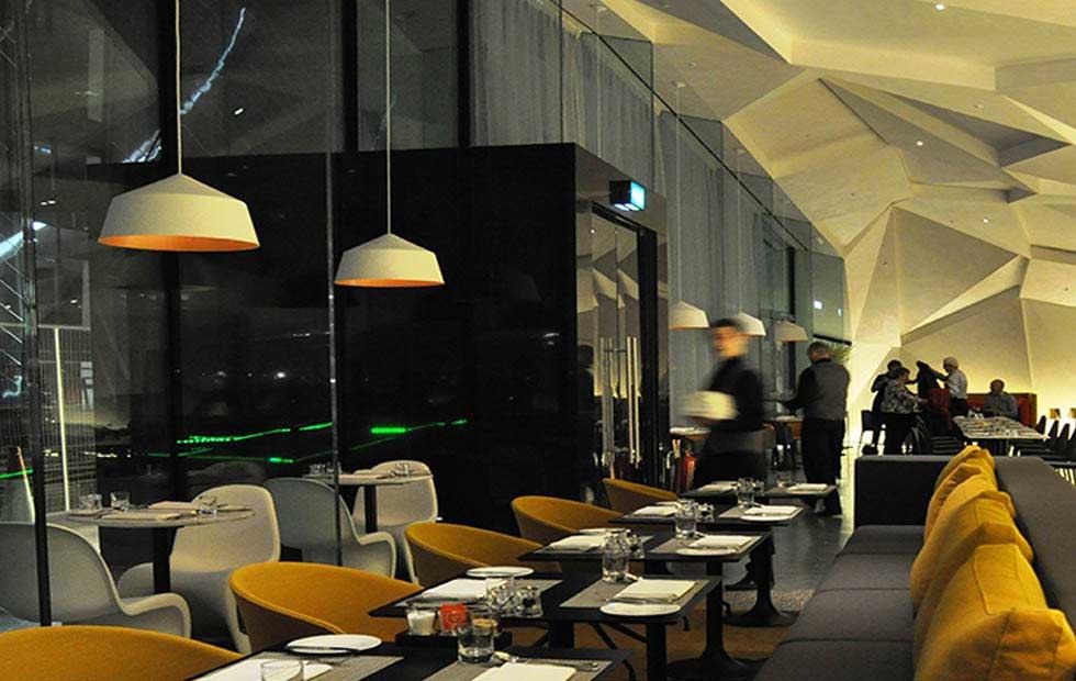 Slider Circus Lighting in White Shade, Marker-hotel, Dublin