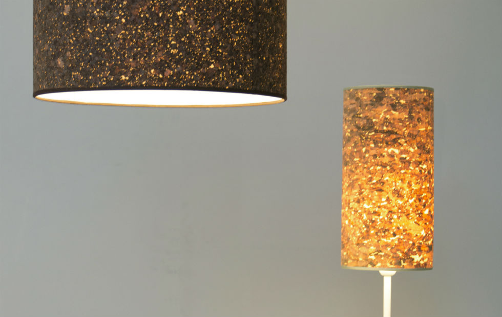 Slider Cork Cracker Table and Large Pendant in Two Sizes and Two Colours
