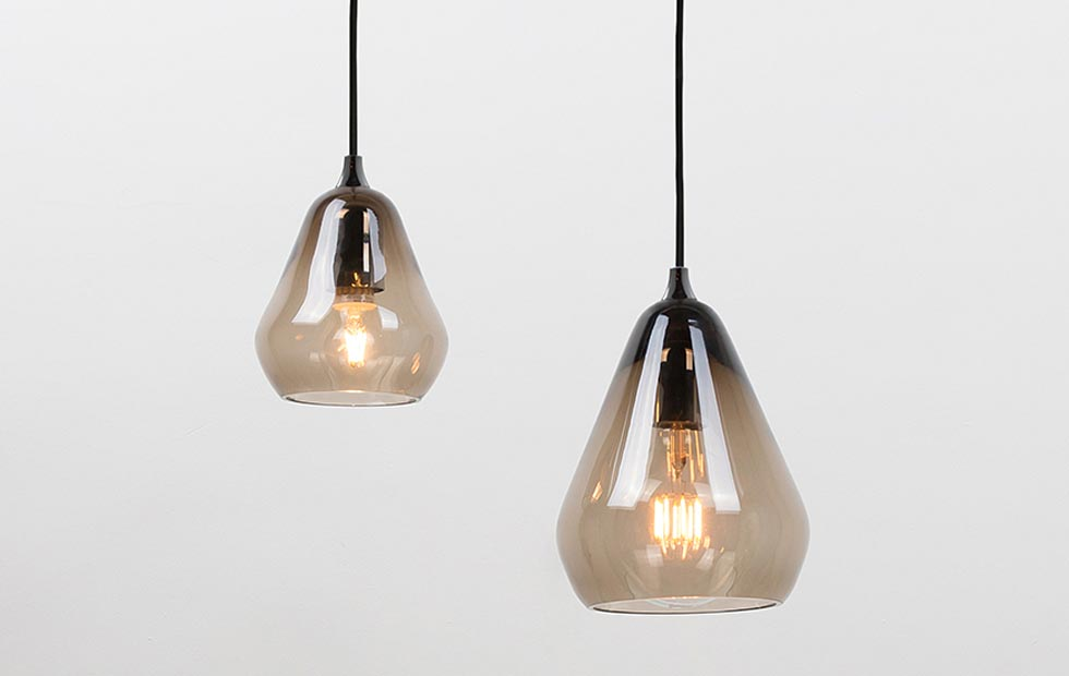 Slider Core Glass Pendant, Innermost Smoke Pendant Range