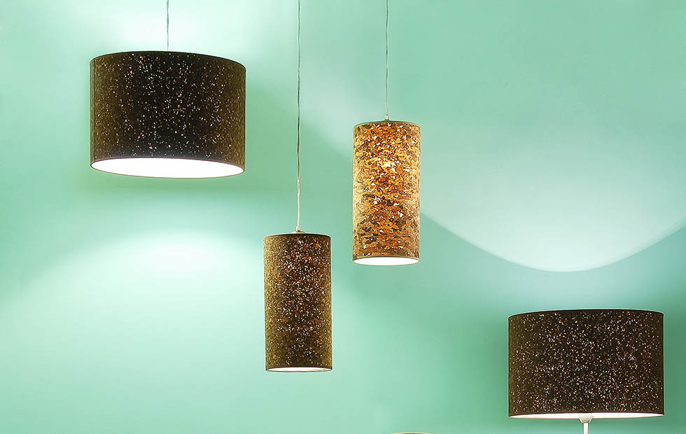 Slider Innermost Cork, Tall and Drum Sizes Pendants in Natural Colour