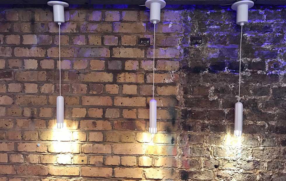 Slider Brixton Spot White at Darc Night 2018 , Pendant Lights, Innermost