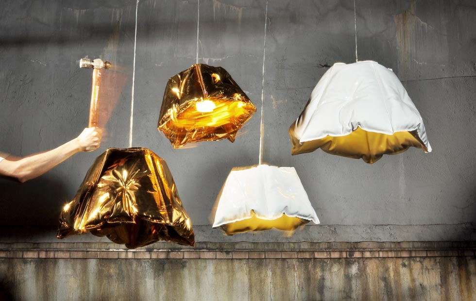 Slider Innermost Dent Flatpack Lampshade by Chak