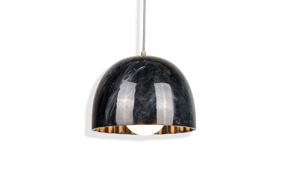 Slider Doric 28 marble in polished black , Innermost Lighting Product