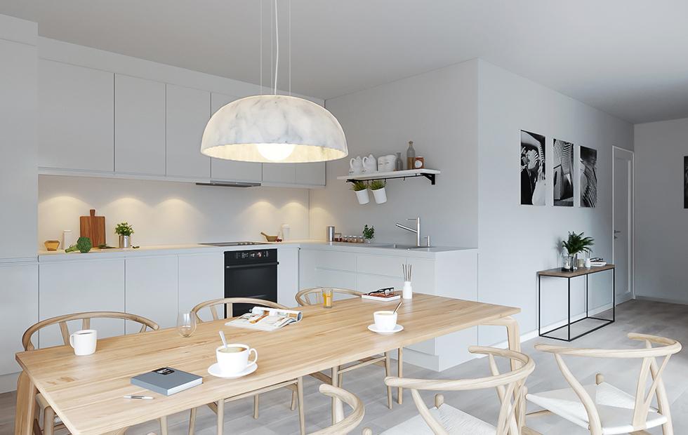 Slider Innermost Doric Pendants at Madrid Private Residence