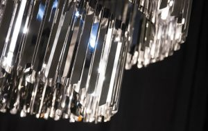 Slider Innermost Facet Two Tier, Tiered Chandelier Detail