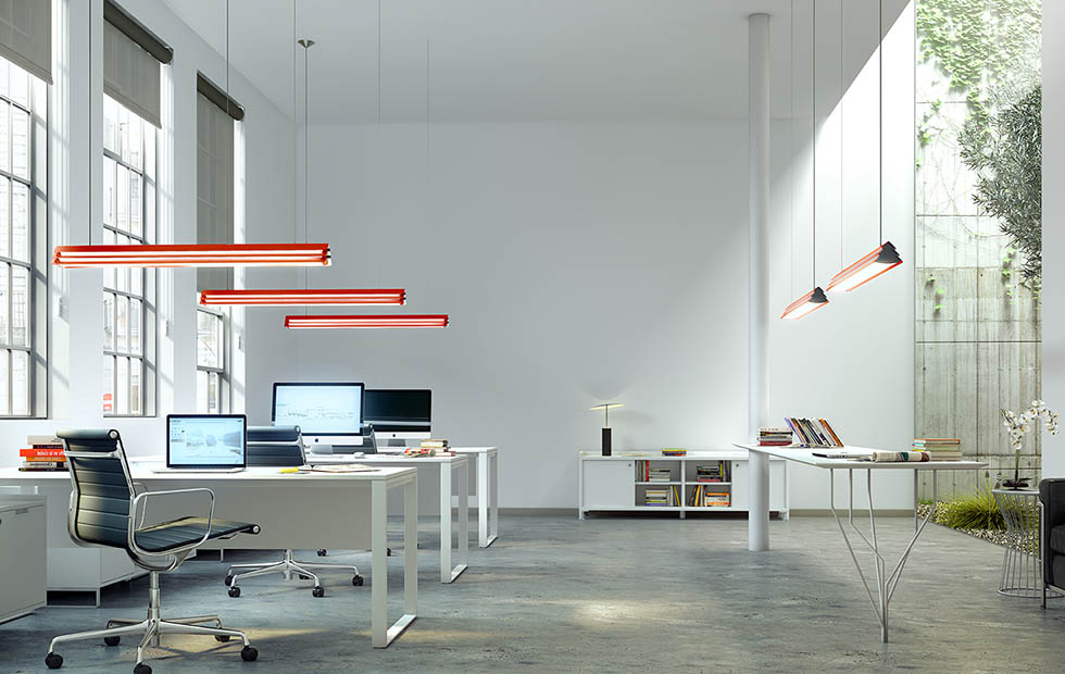 Slider Innermost Gable at Open Plan Office, London, UK
