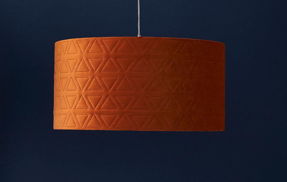 bespoke harrogate lamp shade in orange