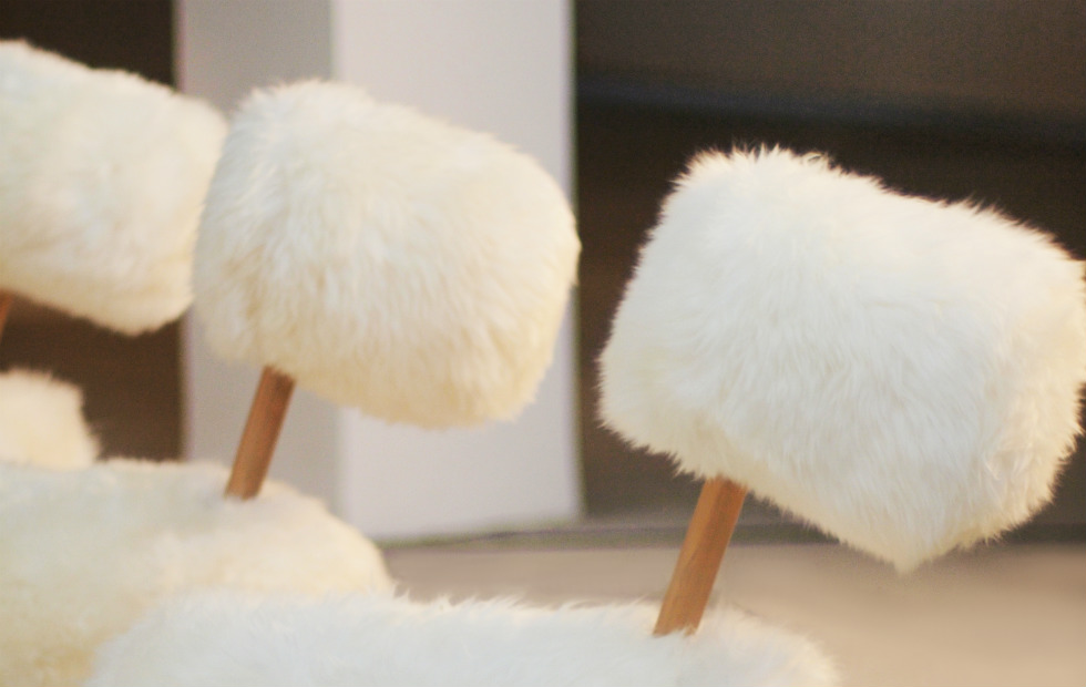 Slider HiHo-Herd, Three Heads in a Row, 100% Real British Sheepskin