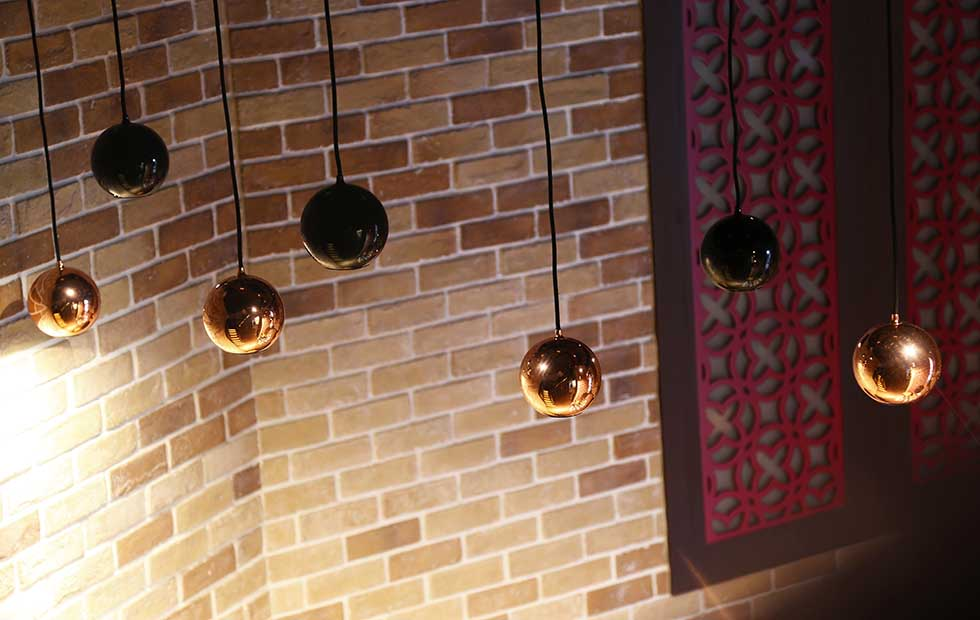 Boule Pendants in Hei House Restaurant