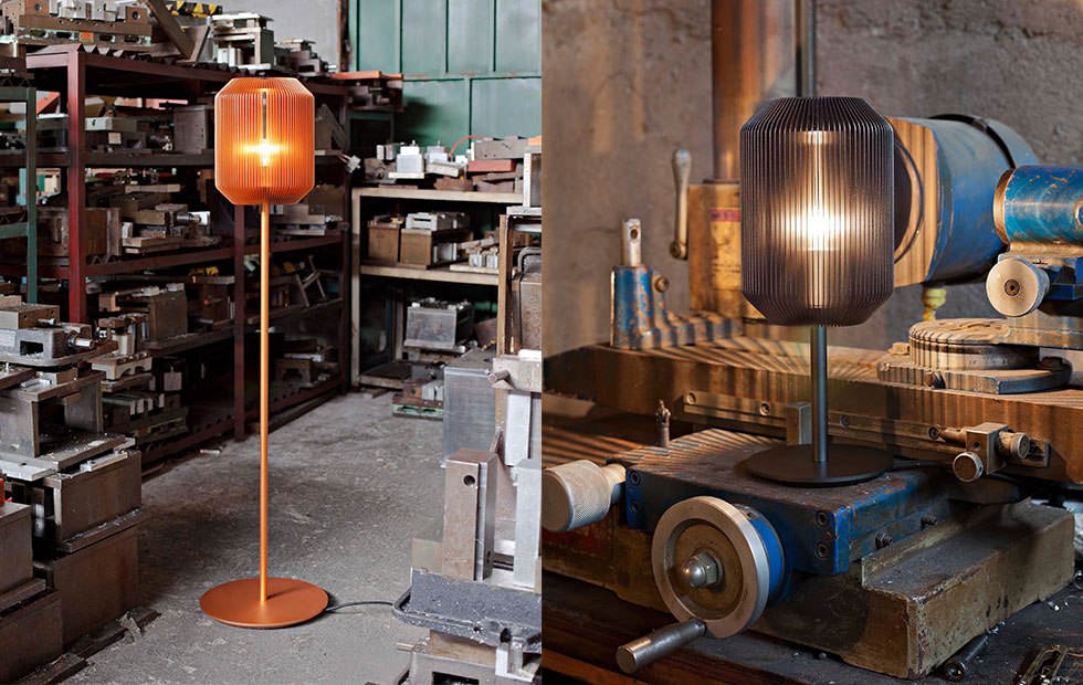 Slider Innermost Joseph Table and Floor Lamp