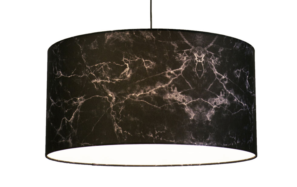 Slider Innermost Marble lampshade in black
