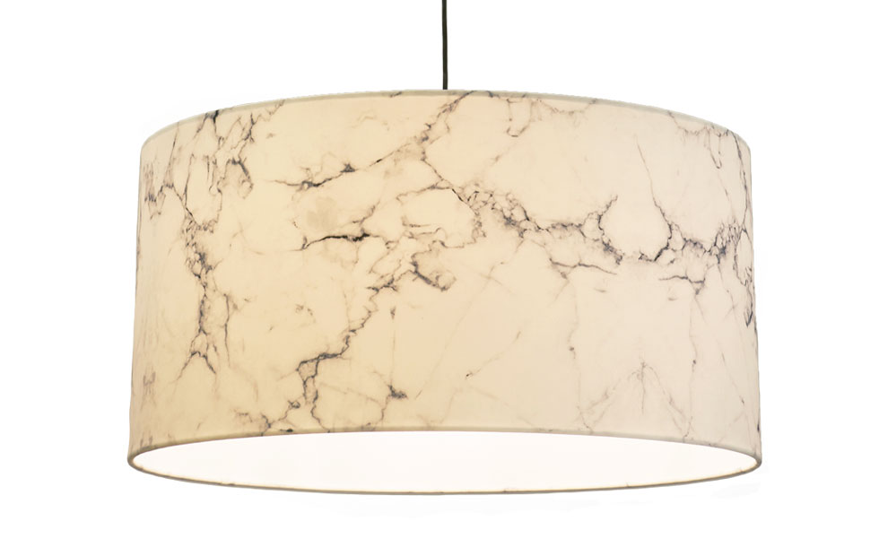 Slider Innermost Marble lampshade in White