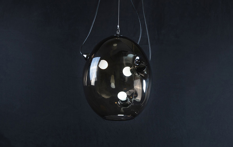 Slider Membrane in frosted dark, Innermost Pendants