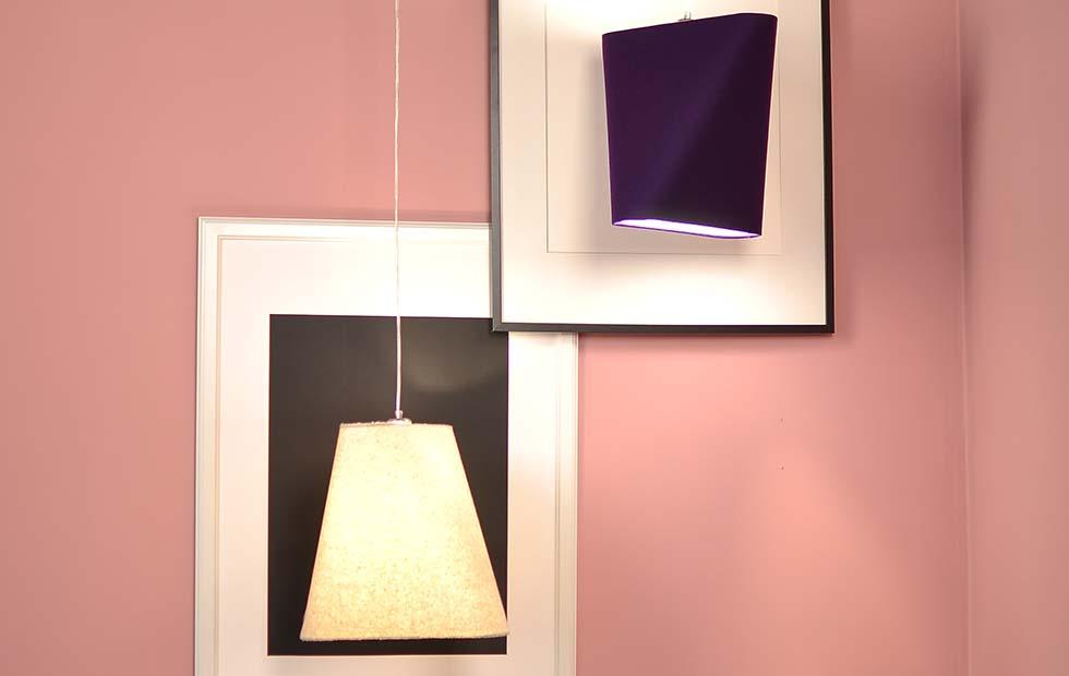 Slider Innermost Natural and Purple Wool Felt