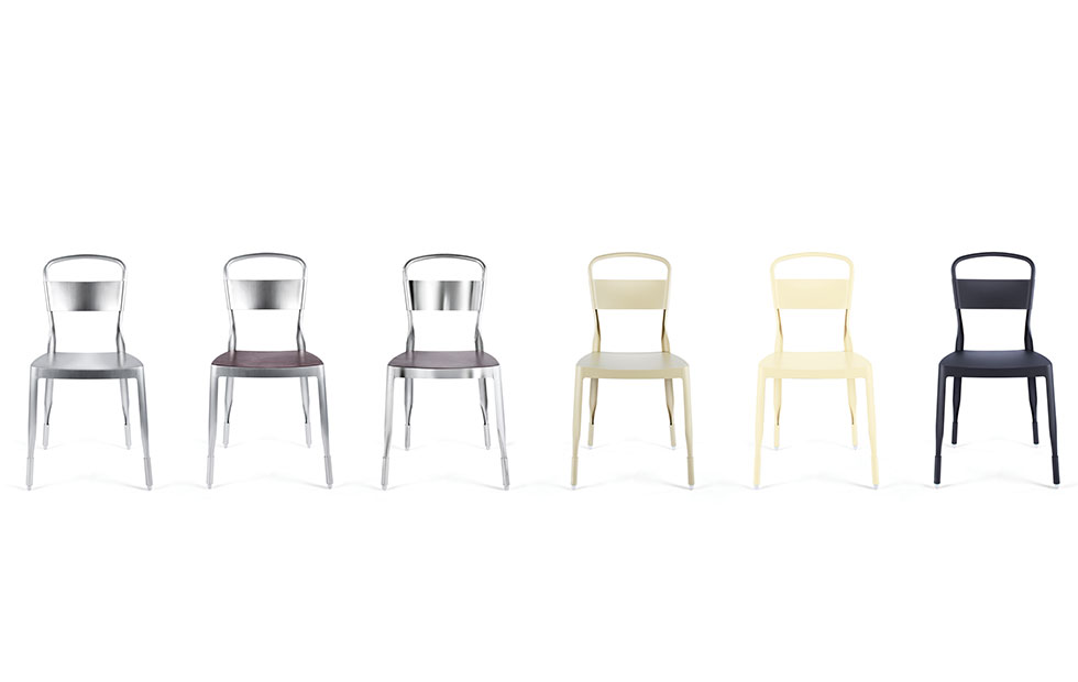 Slider Innermost Chairs, Otto stool in a range of colour finishes