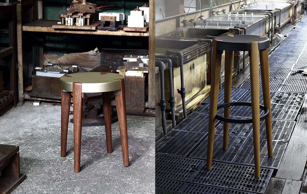 Slider Innermost Otto stools and bar stool in situ
