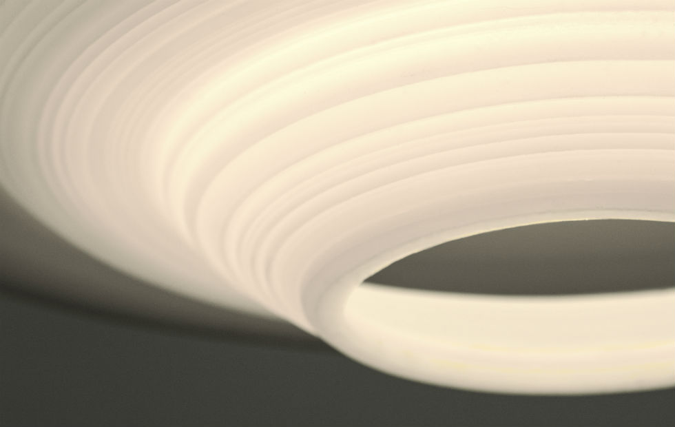 Slider Innermost Stupa White Shadows Pendant Lights Detail
