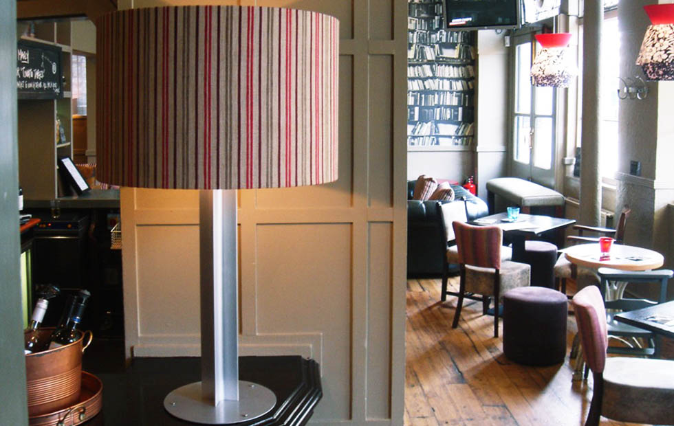 Bespoke Cross Base Lampshades in The Eagle Pub, Pendants Light