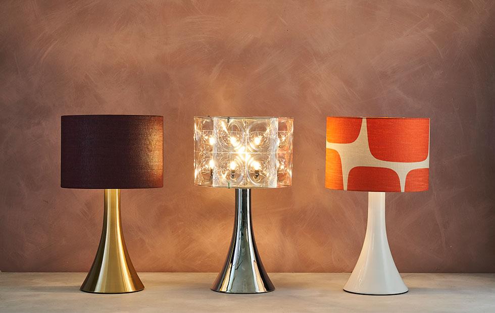 bespoke trumpet mix lamp shades