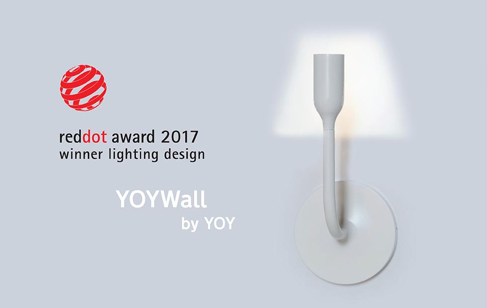 YOY Wall wins Red Dot!