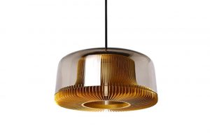 Slider Innermost Dub Pendants in Gold with Smoke Glass