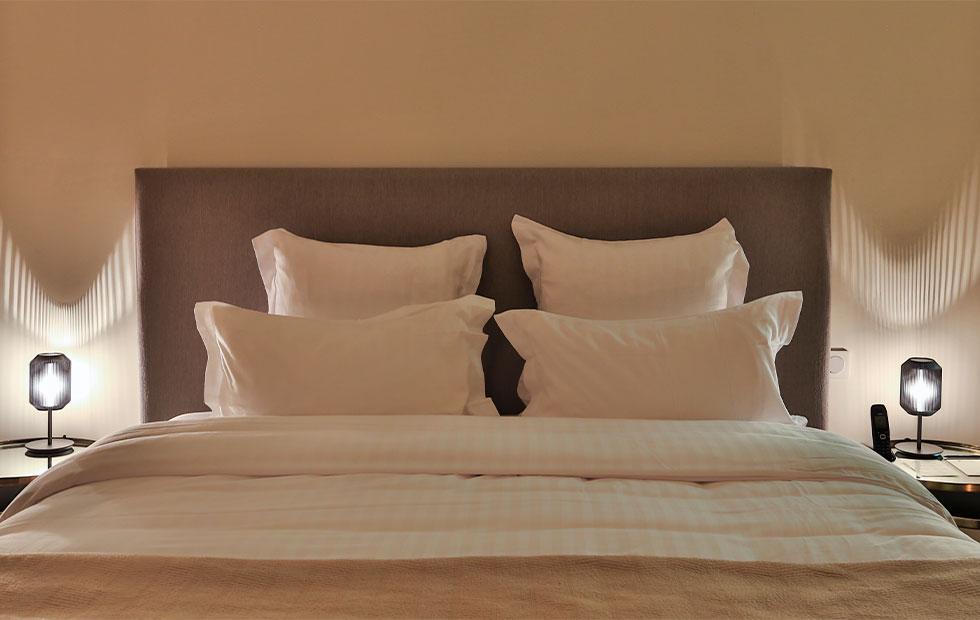 joseph bedside table lamp at hotel de la villeon in france