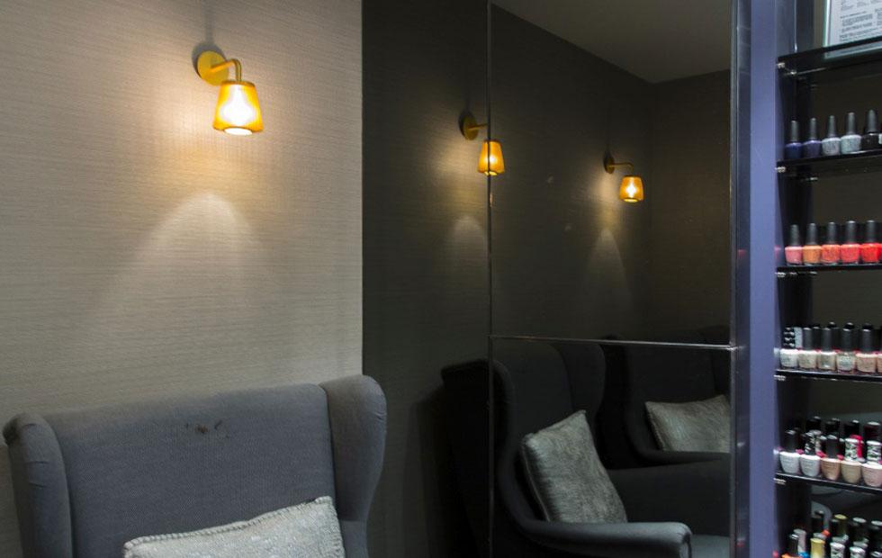 bramah wall light at glow spa in hong hong