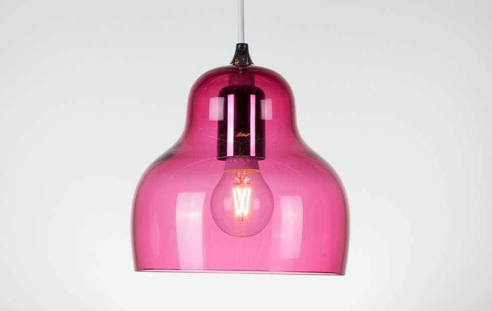 jelly glass shade in pink
