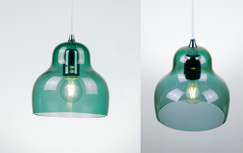 jelly glass shade in blue