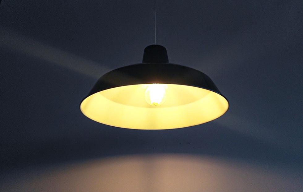 foundry black aluminium pendant lampshade
