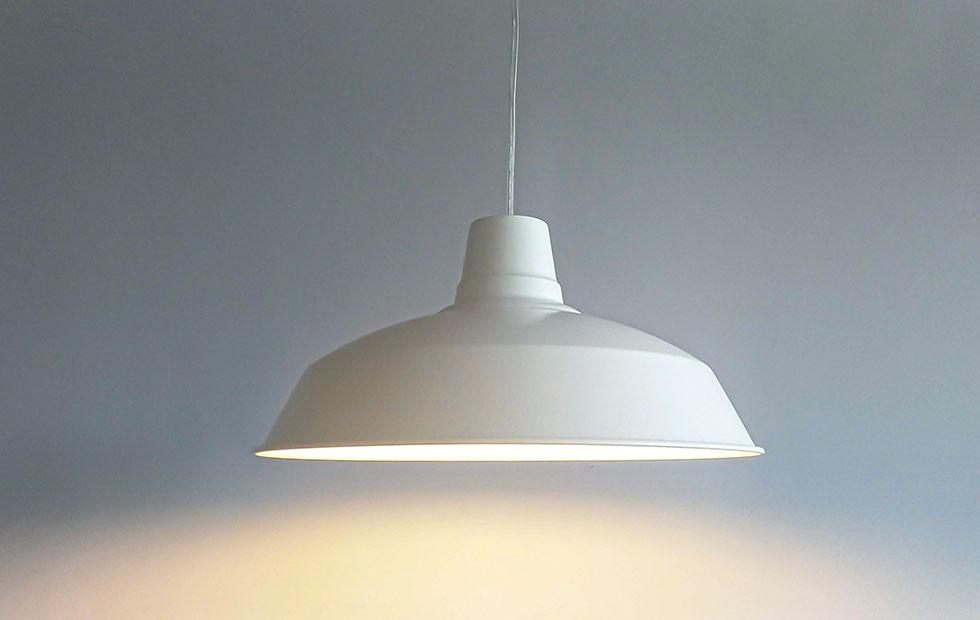 foundry white aluminium pendant lampshade