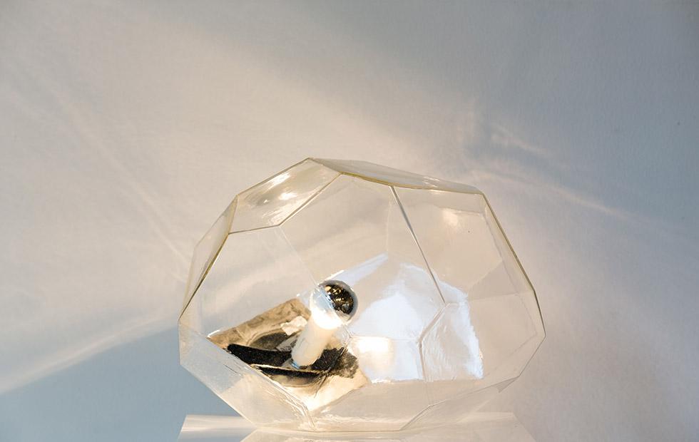 Glass Asteroid pendant Lighting, Innermost