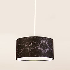 marble lampshade in black 1