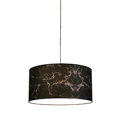 marble lampshade in black
