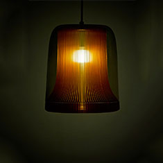 dub large pendant lamp copper with grey glass
