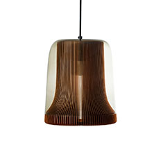dub large pendant lamp copper with smoke glass