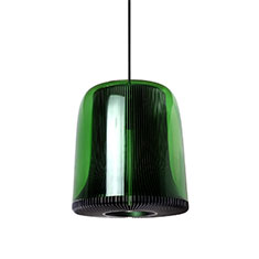 dub large pendant lamp grey with green glass