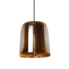 dub large pendant lamp gold with smoked glass