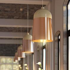 glaze pendant light at restaurant in stockholm