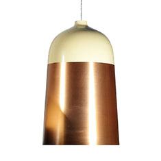 glaze pendant light copper and cream